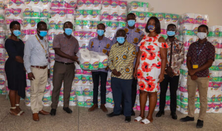 GRASAG and SRC donate toiletries and sanitizers to UPSA Management to support fight against COVID-19