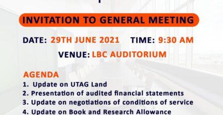 UTAG Gen Meeting